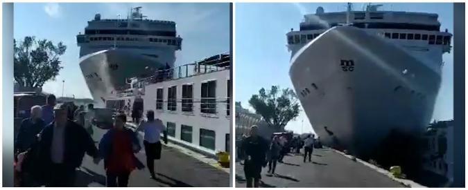"""Venezia, nuovo esposto dei comitati contro le grandi navi: """"Regole violate da anni, bloccare il traffico"""""""