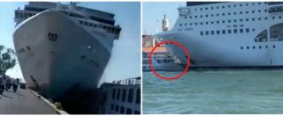 """Venezia, il pilota della nave: """"Rotto il cavo del rimorchiatore di prua, c'è stata una perdita dei comandi"""""""
