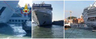 """Incidente Venezia, transatlantico si scontra con battello. I ministri Toninelli e Bonisoli: """"Stop grandi navi in laguna"""""""