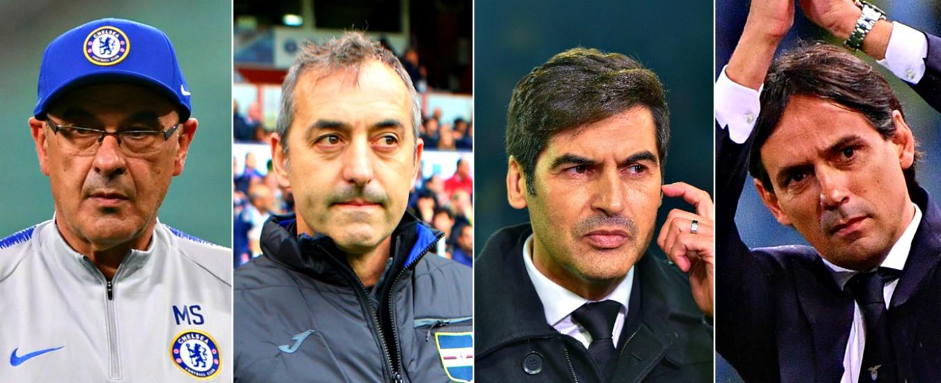 Juventus, manca Sarri al valzer-panchine. Milan e Roma alla disperata ricerca di un'identità: scelti Giampaolo e 'Zorro'