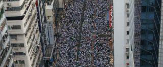 Hong Kong, un milione di persone in strada per protestare contro legge sulle estradizioni verso la Cina