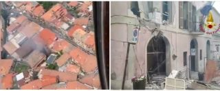 Roma, i palazzi distrutti dopo l'esplosione a Rocca di Papa: le immagini dell'intervento dei vigili del fuoco