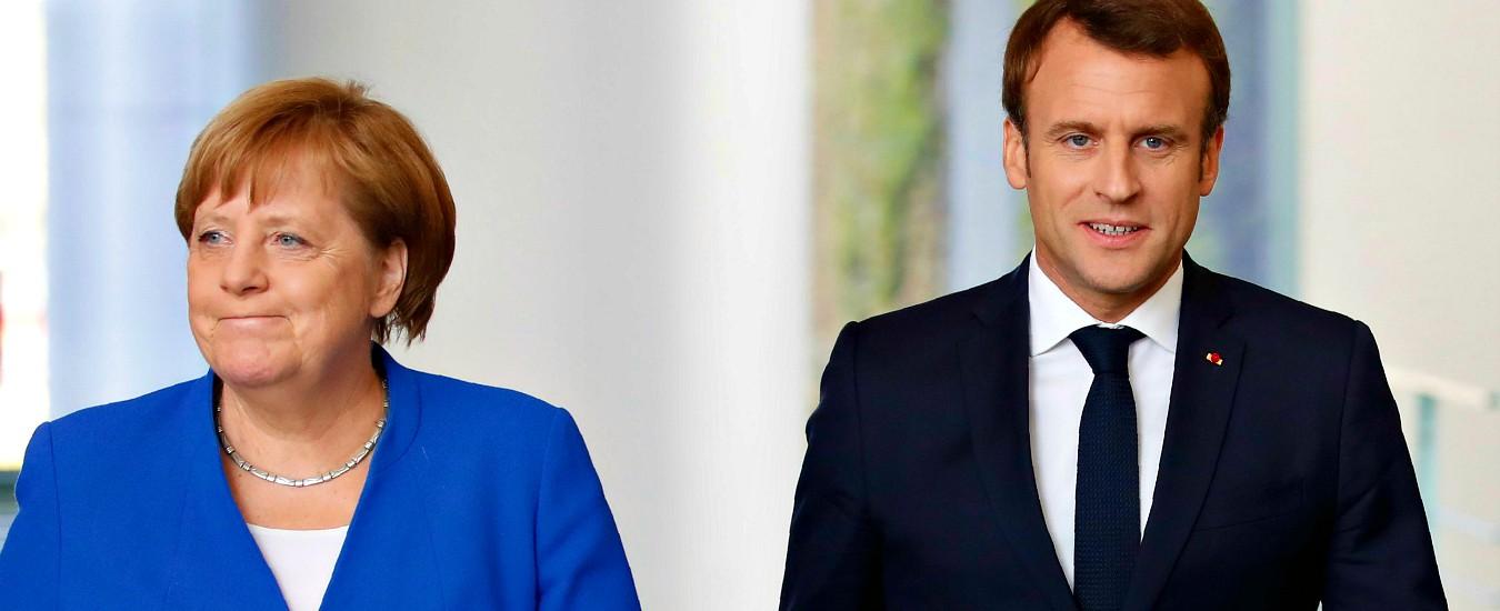 """Salario minimo europeo, Macron rilancia la proposta e Merkel ora lo appoggia: """"Ue lo garantisca in tutti gli Stati membri"""""""