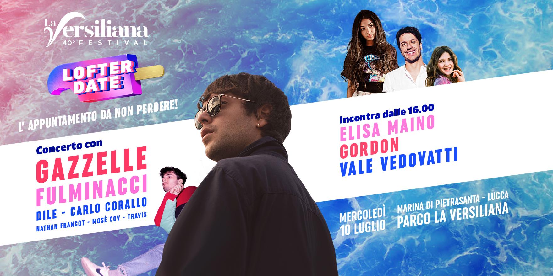 Lofter Date, spostato al 27 agosto alla Versiliana il concerto-evento con Gazzelle, Fulminacci e le webstar del momento