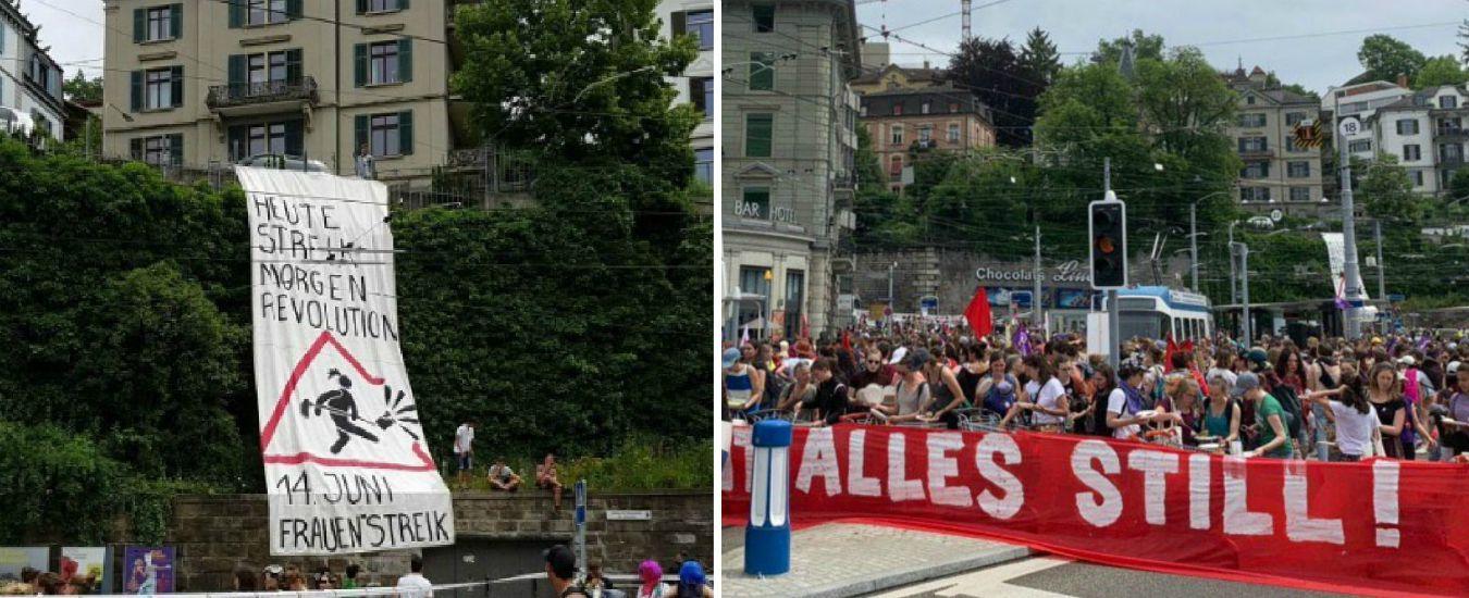 Svizzera, lo sciopero femminista per chiedere parità: dai salari equi all'abolizione della tassa sugli assorbenti
