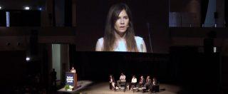 """Amanda Knox al festival della Giustizia penale: """"In Italia ho paura. Ho incontrato la sofferenza, ma fa parte di me"""""""