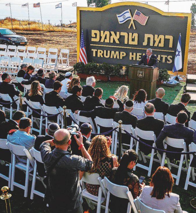 Bibi inaugura Trump City: è una città che non esiste