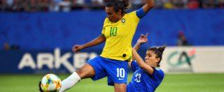 Mondiali calcio femminile, Italia sconfitta dal Brasile ma prima nel girone: ora aspetta l'avversaria agli ottavi di finale