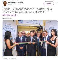 Nella foto il presidente del Consiglio Giuseppe Conte. Segnalazione di Emanuela Citterio.