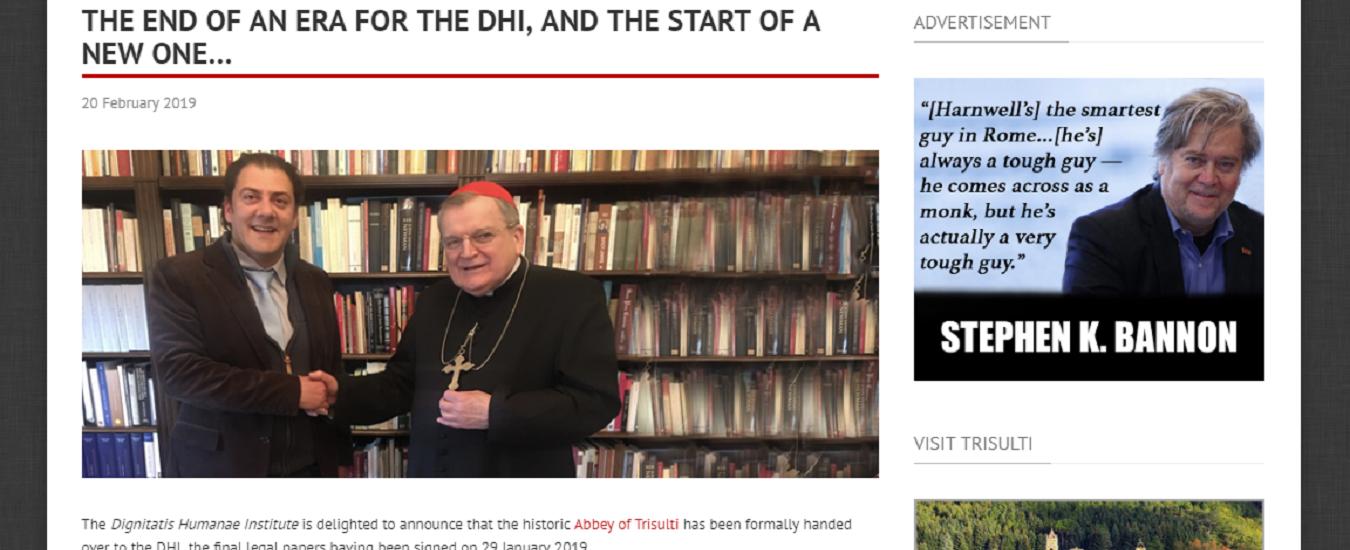 A Trisulti Papa Francesco è assente. Il vero santo è Steve Bannon