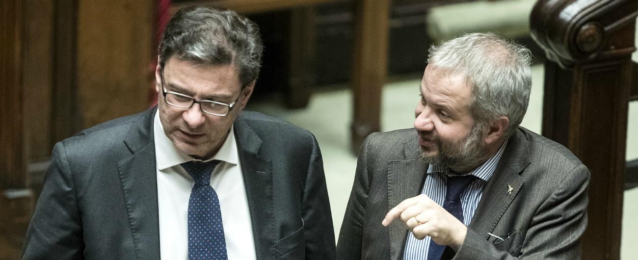 """Minibot, Giorgetti sconfessa Borghi: """"C'è ancora chi gli crede? Non verosimili"""". Il collega replica: """"Salvini è d'accordo"""""""