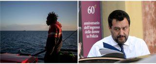 """Sea Watch, Salvini: """"L'Italia non si fa dettare le scelte da una Ong che non rispetta le regole"""""""