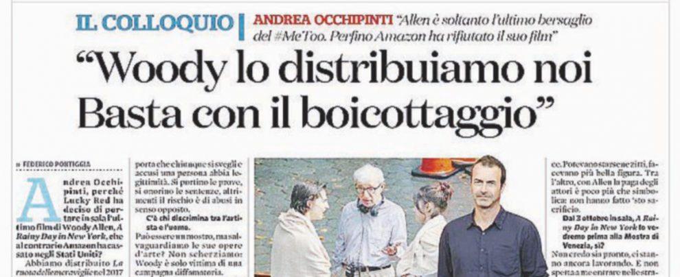 """Woody Allen riprende il """"Fatto"""". """"Anteprima italiana per il film"""""""