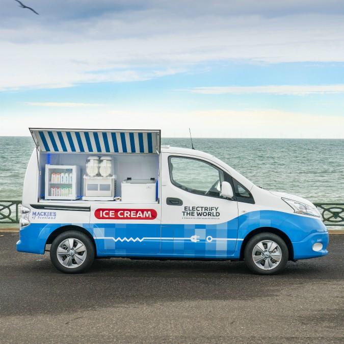 Nissan e-NV200, anche il gelato diventa eco-friendly – FOTO