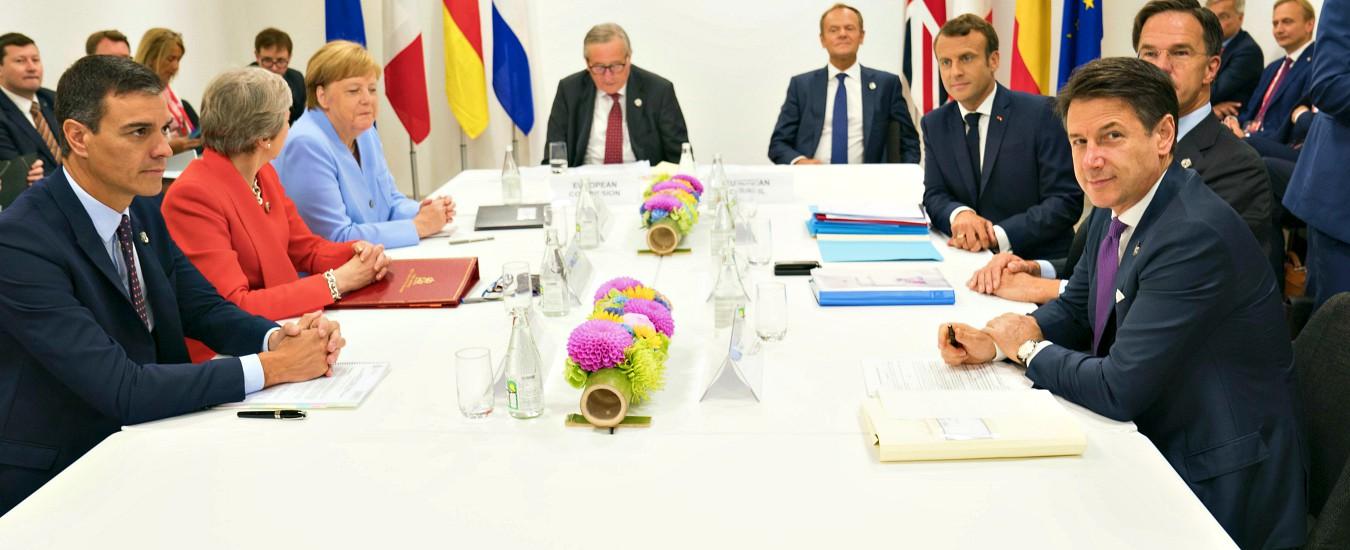 """Procedura, Conte tratta con i leader Ue al G20: vede Merkel e Juncker. """"Confido di evitarla. Nessun rinvio a ottobre"""""""