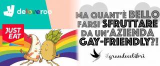 Milano Pride, da Deliveroo a Just Eat: critiche per gli sponsor della parata Lgbt. 'Ama chi vuoi, basta che ti lasci sfruttare'
