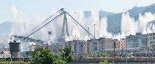 """Ponte Morandi, abbattuti resti struttura dopo l'evacuazione di 3.400 residenti. Salvini: """"Prossimo anno nuovo viadotto"""""""