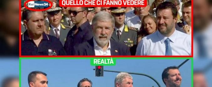 """Ponte Morandi, M5S contro Rainews24: """"Di Maio oscurato"""". Il cdr: """"La notizia era demolizione, non passerella dei politici"""""""
