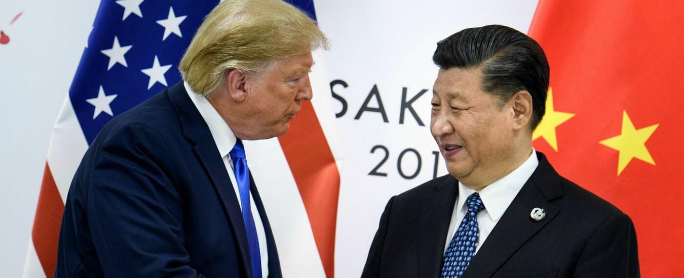 """G20, Trump congela nuovi dazi alla Cina: """"Lavoriamo con Pechino per un accordo"""""""