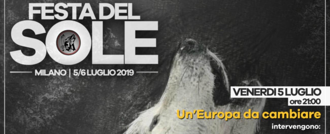 """Lega, Anpi: """"Europarlamentari e consiglieri alla festa del movimento neofascista. Sindaco vieti evento"""""""