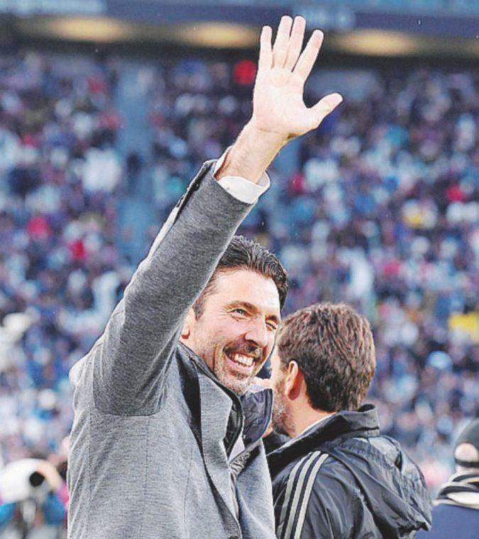 Il breve addio di Buffon alla Juve