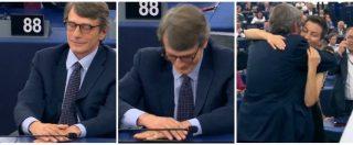 Parlamento europeo, Tajani annuncia Sassoli presidente: l'emozione dell'eurodeputato dem e gli applausi in Aula