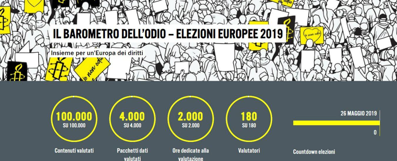 """Europee, il 90% dei commenti online su migranti: """"Linguaggio sovranista anche da chi vuole contrastarlo"""""""