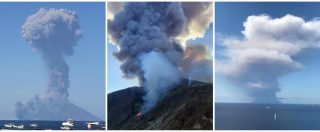 """Stromboli, esplosioni nel cratere del vulcano. Sindaco: """"Turista morto durante escursione"""". Persone si tuffano in mare"""
