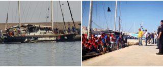 Lampedusa, la nave Alex sequestrata dalla Guardia di Finanza. Sbarcati i migranti, il capitano è indagato