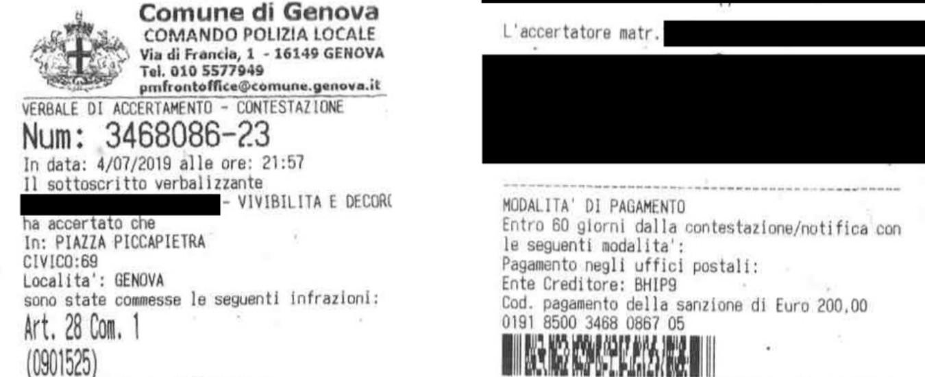 """Genova, 200 euro di multa a un senzatetto: per la polizia municipale è """"colpevole"""" di dormire in strada"""