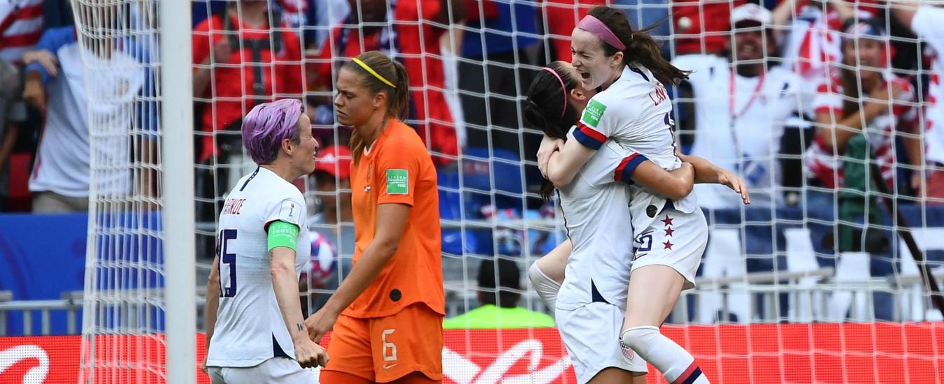 Calcio femminile, gli Usa campioni del mondo. Battuta l'Olanda 2-0. A segno Megan Rapinoe su rigore e Rose Lavelle