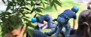 Prato, scontri tra polizia e lavoratori davanti al Panificio toscano: manifestante a terra colpito alla testa con un pugno