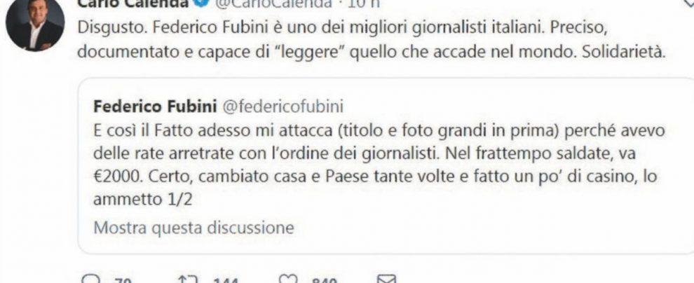 Fubini insulta il Fatto, ma è ancora abusivo