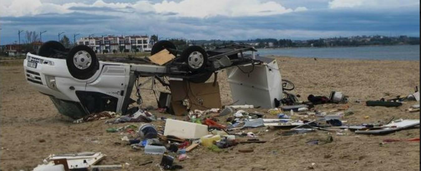 Tornado e grandine in Grecia: sei turisti morti e 30 feriti nella penisola Calcidica