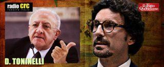 """Toninelli: """"De Luca? Un comico, la maggiore sfortuna per la Campania. Ironizza sui miei capelli? Invidioso, lui è calvo"""""""