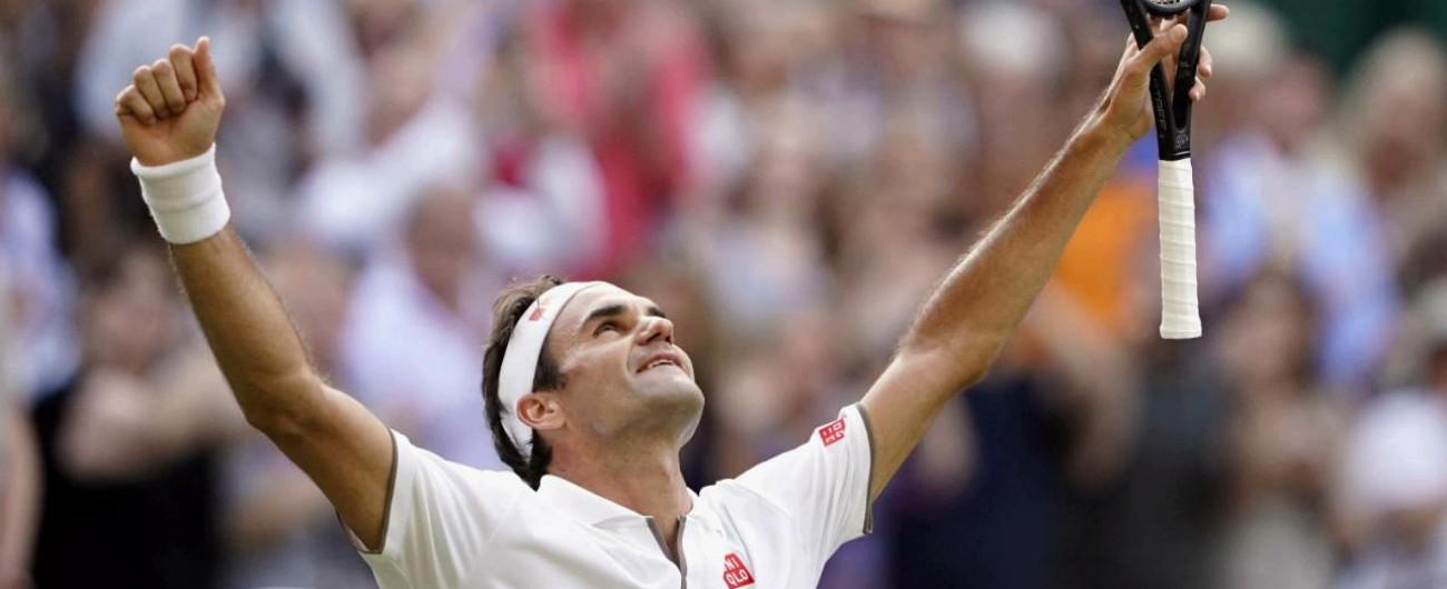 Wimbledon, Roger Federer batte Nadal: domenica la finale contro Djokovic per eguagliare i nove successi di Navratilova
