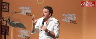 """M5s, Renzi: """"Il loro modello culturale? È il cialtronismo. L'unico collante del governo è la paura di perdere il potere"""""""