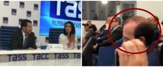 """Fondi russi alla Lega, Salvini a Mosca nel 2018 e Savoini è in prima fila. La giornalista: """"Grazie Gianluca per l'aiuto"""""""