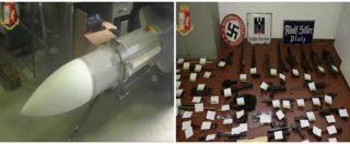 Torino, blitz della polizia contro gruppi di estrema destra: nel capannone spuntano missile e arsenale da guerra