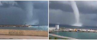 Corsica, grossa tromba d'aria al largo del porto di Bastia: allerta meteo sull'isola francese