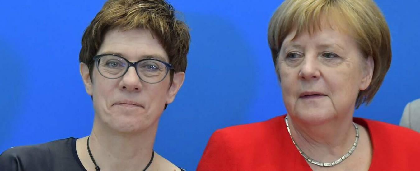 Germania, Kramp-Karrenbauer nuova ministra della Difesa: prende il posto di Ursula von der Leyen