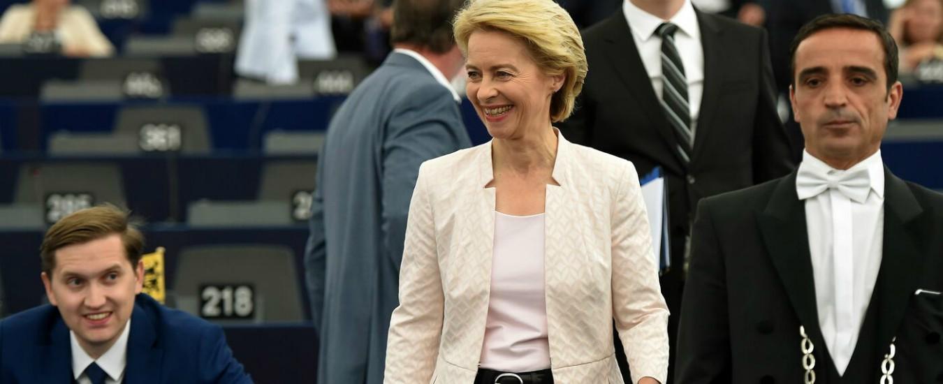 """Commissione Ue: Pd, Forza Italia e M5s a favore di von der Leyen. Lega: """"Lei non è il cambiamento"""""""