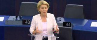 """Commissione Ue, dibattito per l'elezione di von der Leyen: """"Usare la flessibilità, economia è al servizio del popolo"""""""
