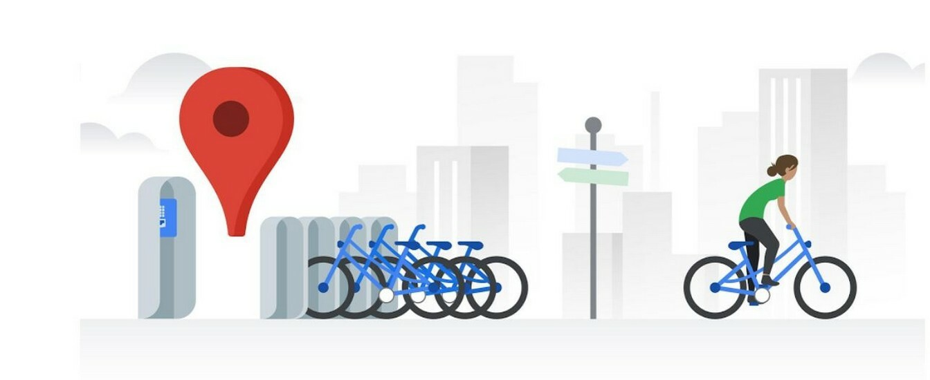 Google Maps è utile anche per il bike sharing: indica dove sono le stazioni e quante bici sono disponibili