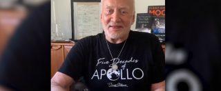 """Sbarco sulla Luna, il videomessaggio di Buzz Aldrin: """"Gli Stati Uniti guidino un'alleanza spaziale"""""""