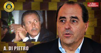 """Borsellino, Di Pietro: """"Lui abbandonato dallo Stato, io a Bergamo protetto 24 ore su 24. Avemmo sempre bastoni tra le ruote"""""""