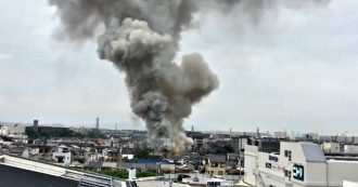 Kyoto, incendio in uno studio di animazione: in un video l'enorme colonna di fumo vista dall'alto
