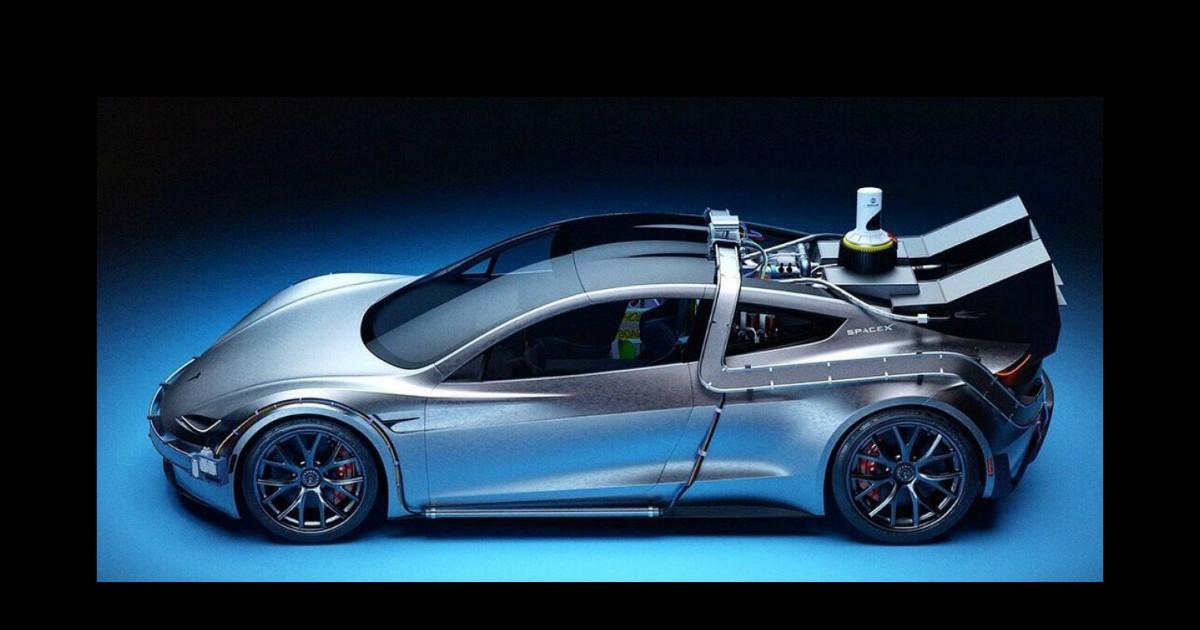 Tesla Roadster, eccola in versione Ritorno al Futuro – FOTO