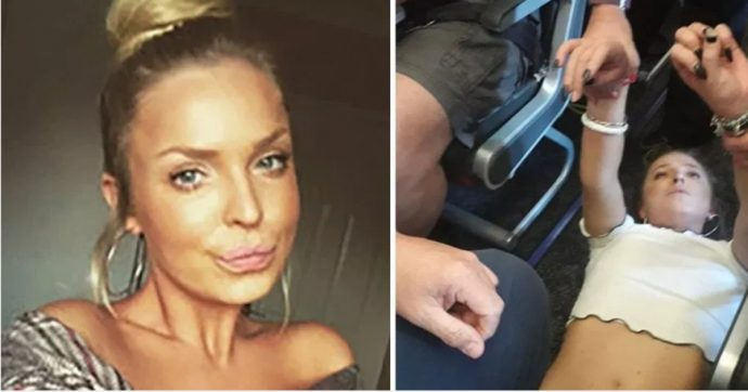 Passeggera tenta di aprire i portelloni dell'aereo in volo e picchia le hostess: arrivano i caccia militari