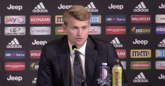 """Juve, de Ligt si presenta: """"Sarri uno dei motivi per cui volevo indossare maglia bianconera"""""""